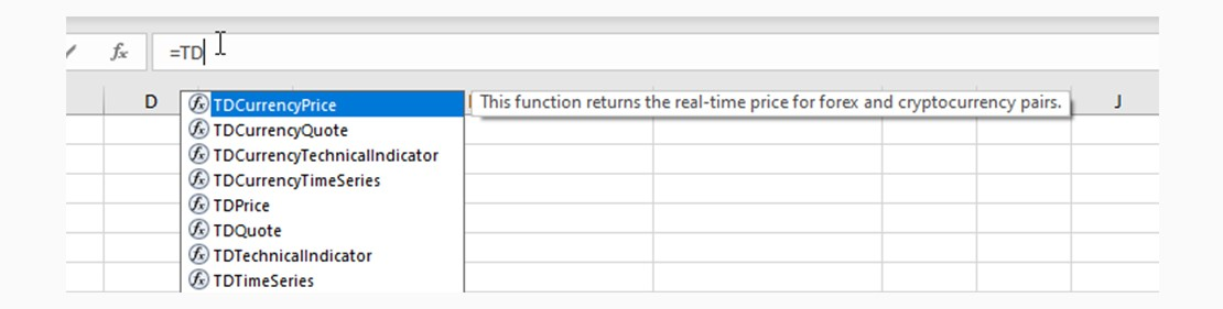 Functions list